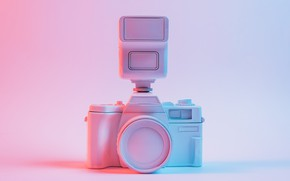 Picture background, pink, blue, paint, camera, cameras