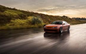 Picture Orange, Car, Road, Nissan Silvia S15