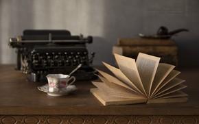 Picture books, tube, Cup, sugar, typewriter