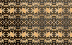Picture abstraction, pattern, gold, ornament, color