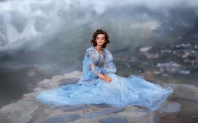 Picture sadness, look, girl, pose, dress, Anastasia Barmina