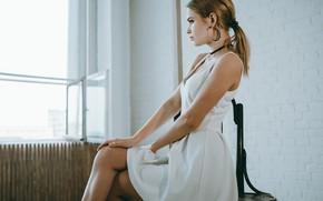 Picture ass, look, girl, pose, dress, Hair, blonde, legs, Artem Kovalev