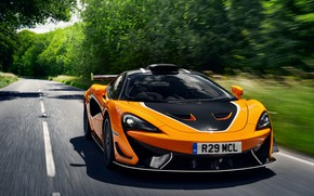Picture coupe, McLaren, on the road, 2020, V8 twin-turbo, 620R, 620 HP, 3.8 L.