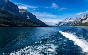 Picture mountains, lake, photo, Canada, Lake Minnewanka