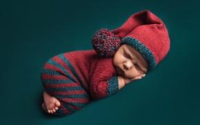 Picture sleep, baby, costume, jumpsuit, child, baby, cap, Фалько Ману
