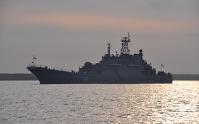 Picture ship, large, landing, Kondopoga