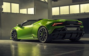Picture Lamborghini, rear view, Spyder, Evo, Huracan, 2019, Lamborghini Huracan Evo