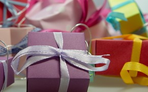Picture holiday, box, gift, colored, tape, gifts, bows, bow, box, bows