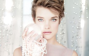 Picture hair, look, pose, actress, pearl, makeup, Natalia Vodianova, Natalia Vodianova, pearl, model