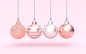 Picture rendering, holiday, balls, New year