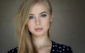 Picture look, background, model, portrait, makeup, hairstyle, blonde, beauty, Victoria Pichurova, Victoria Pichkurova