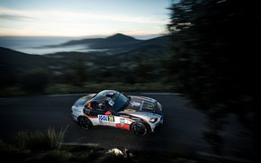 Picture mountains, night, rally, 2018, Abarth, 124 Rally
