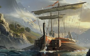 Picture multi-platform video game, Eddie Bennun, Assassin's Creed:Origins, Greek Trireme