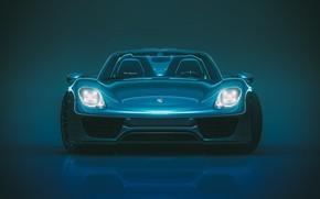 Picture Auto, Porsche, Machine, Lights, 918, The front, Porsche 918, Transport & Vehicles, by Giacomo Geroldi, …