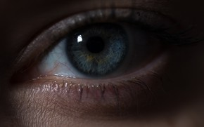 Picture eyes, blue, the pupil