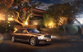 Picture house, transport, yard, car, Bentley Motors
