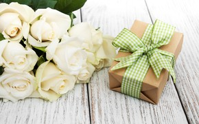 Picture holiday, gift, roses, bouquet, Olena Rudo