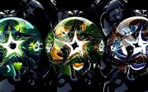 Picture balls, pattern, Shine