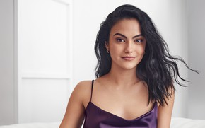 Picture look, girl, face, makeup, actress, brunette, Camila Mendes
