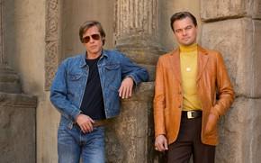 Picture the film, actor, shotgun, brad pitt, brad pitt, movie, Leonardo DiCaprio, leonardo dicaprio, once upon ...