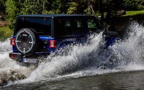 Picture squirt, blue, SUV, 4x4, Jeep, 2019, Wrangler Unlimited 1941 Sahara