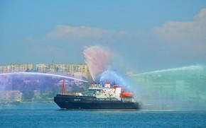 Picture tug, lifeguard, miner, Sevastopol, Navy day