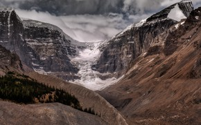 Picture Alberta, Canada, Glacier Icefields Parkway, Columbia Icefield