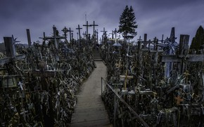 Picture Lithuania, cross mountain, HILL OF CROSSES, Šiauliai district