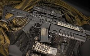 Picture weapons, rifle, weapon, custom, M16, ar-15, assault rifle, m16, assault Rifle, grenade launcher, underbarrel grenade …