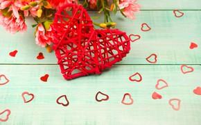 Picture bouquet, hearts, heart