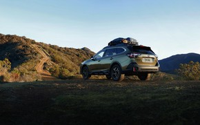 Picture Subaru, mountain road, universal, Outback, AWD, 2020