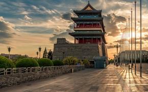 Wallpaper street, China, the evening, China, Beijing