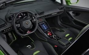Picture Lamborghini, salon, Spyder, Evo, Huracan, 2019, Lamborghini Huracan Evo