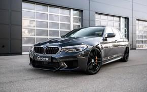 Picture BMW, sedan, G-Power, 2018, the wall, BMW M5, four-door, M5, F90, dark gray