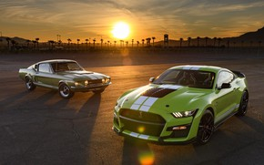 Picture green, mustang, ford, gt500 shelby