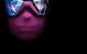 Picture background, mask, glasses