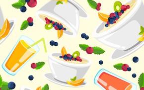 Picture white, berries, background, texture, juice, dessert
