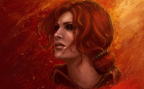 Picture girl, red, Wild Hunt, The Witcher3