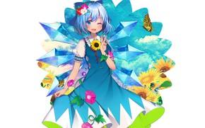 Picture flowers, art, girl, Touhou, Touhou, Touhou