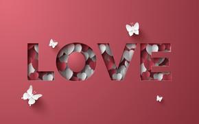 Picture love, letters, the inscription, hearts
