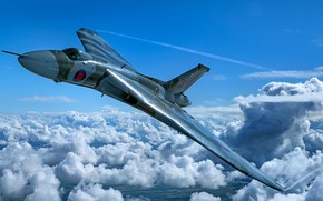 Picture Clouds, The plane, Bomber, RAF, Royal air force, Avro Vulcan, Avro, Vulcan, V-bomber, Avro Vulcan …