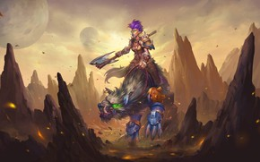 Picture mountains, beast, Orc, Hearthstone Heroes of Warcraft, Hearthstone Heroes Of Warcraft