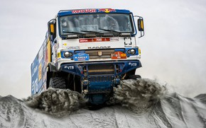 Picture Sand, Auto, Machine, Truck, Race, Master, Russia, Kamaz, Rally, Dakar, KAMAZ-master, Dakar, Rally, KAMAZ, The …
