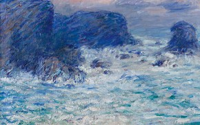 Picture sea, rocks, picture, seascape, John Peter Russell, John Peter Russell, Auchien Rock at Belle-Ile