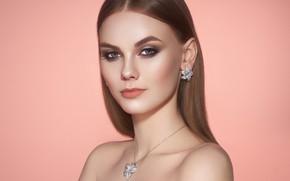 Picture girl, model, makeup, decoration, photographer Oleg Gekman