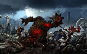 Picture Night, Figure, Monsters, Monster, Battle, Soldiers, Soldiers, Battle, The demon, Fantasy, Demons, Monster, Art, Art, …