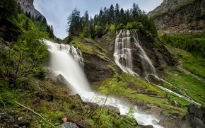 Picture landscape, nature, waterfall, beauty