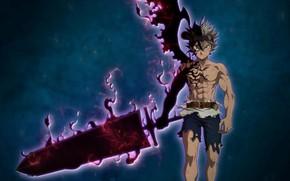 Picture demon, sword, blood, game, anime, wings, boy, ken, blade, battle, asian, oni, japonese, Black Clover, …