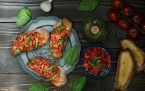 Picture food, bread, tomatoes, sandwiches, appetizer