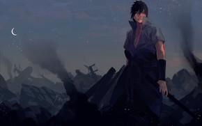 Picture Uchiha Sasuke, NARUTO, Fanart, Pixiv, Fanart From Pixiv